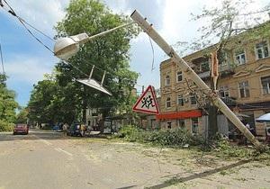 Ущерб от одесского урагана составляет более 37 млн грн