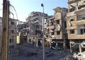Сирийские войска обстреляли пригород Дамаска