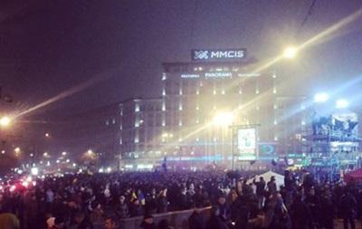 На Европейской площади продолжают митинговать 20 тысяч человек