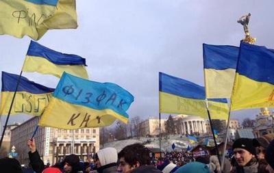 Собравшихся на Майдане Незалежности просят не расходиться, несмотря на холод