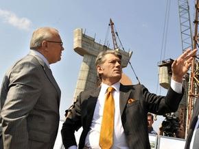 Ющенко требует от Тимошенко денег на строительство моста в Запорожье