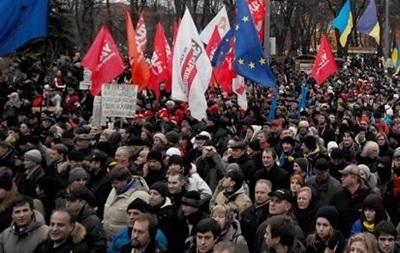 На Евромайдане более семи тысяч человек исполнили гимн Украины