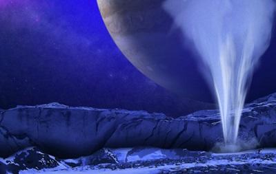 На спутнике Юпитера бьют фонтаны воды