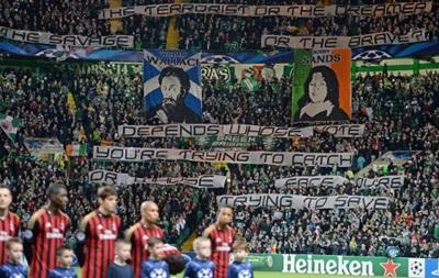 Селтик оштрафовали за политические баннеры на матче Лиги чемпионов
