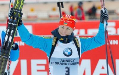 Украинка Семеренко вырвалась в лидеры Кубка мира по биатлону