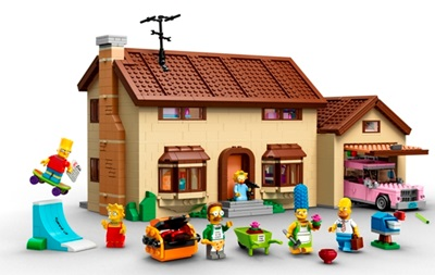 LEGO выпустит набор с фигурками и домом Симпсонов