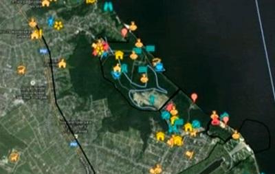 В интернете появилась карта Межигорья с сотней объектов