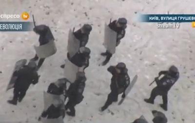 Беркут оттеснил митингующих с улицы Грушевского