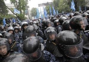 Оппозиционеры прорвались в фан-зону Евро-2012 на Майдане, произошла потасовка с Беркутом