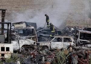 Под Римом из-за падения легкомоторного самолета сгорели 30 автомобилей