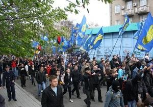 Братство: Милиция задержала сына Корчинского после марша памяти Максима Чайки