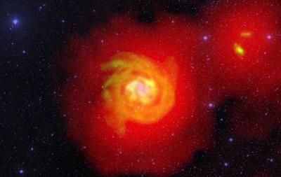 Астрономы обнаружили  межгалактический газопровод