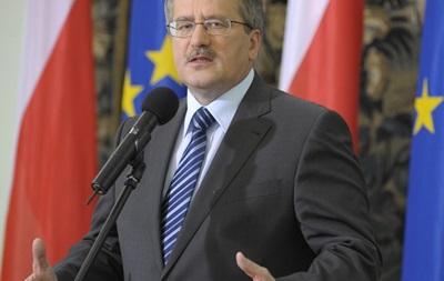Президент Польши призвал все стороны конфликта в Украине пойти на уступки