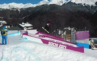 В Сочи норвежский сноубордист во время тренировки сломал ключицу