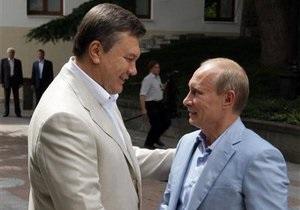 Путин рассказал Януковичу о проблемных вопросах в торговых отношениях Украины и России