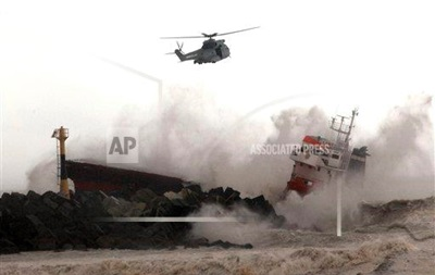 У берегов Франции потерпело крушение испанское судно