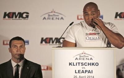 Леапаи: Кличко либо выпрыгнет с ринга, либо я его отправлю в нокаут