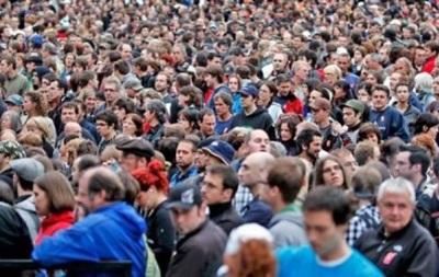 Население Украины в 2013 году сократилось до 45,4 млн человек