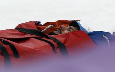 Сочи-2014: Итальянский сноубордист покинул трассу на носилках