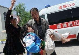 Новости  китая - землетрясение в китае: В Китае растет число жертв землетрясения