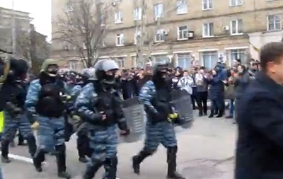 Видео встречи Беркута в Донецке