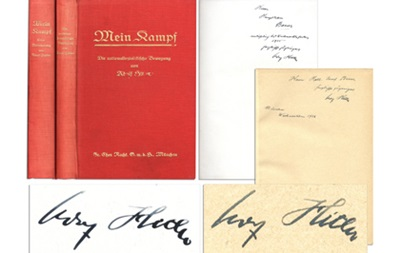 Подписанные Гитлером экземпляры Mein Kampf уйдут с молотка
