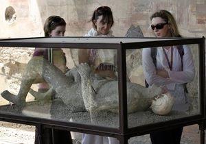 В Помпеях выставили останки жертв извержения Везувия