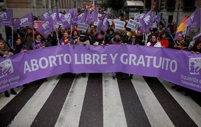 В Испании пройдет протест против закона об абортах
