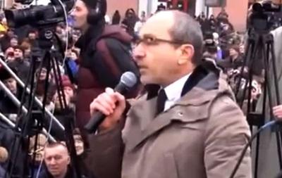 Кернес на митинге в Харькове: «Богословская - проститутка!»