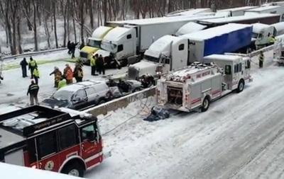 В США минимум три человека погибли в ДТП с участием 50 автомобилей