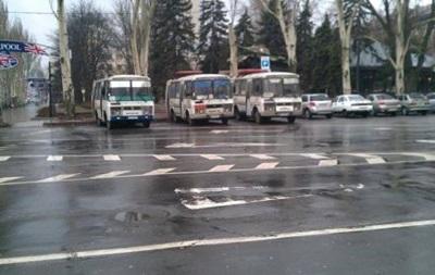 В Донецк массово свозят людей на пророссийский митинг - активисты Евромайдана