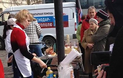Жителей Севастополя в день референдума угощают российскими блинами