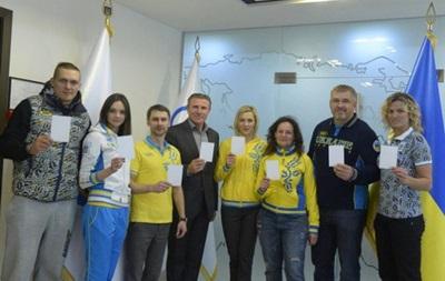 Украинские олимпийцы показали белую карточку мира