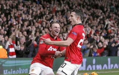 Хет-трик Робина ван Перси выводит Манчестер Юнайтед в 1\4 финала Лиги Чемпионов