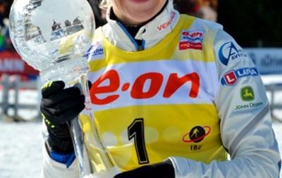 Биатлон: Финская спортсменка Кайса Макаряйнен выиграла Большой хрустальный глобус