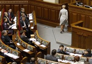 За недоверие Тимошенко проголосовали семь депутатов от БЮТ