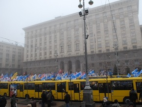 СМИ: За митинг в поддержку Черновецкого платят 15 гривен в час