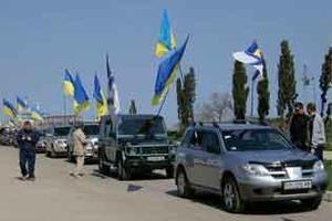 Участники Автомайдана приехали поддержать Тимошенко под Лукьяновское СИЗО