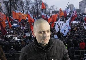 Оппозиционер Удальцов задержан в центре Москвы
