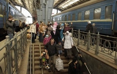 Киев принял первых беженцев из Крыма