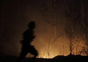 Под Киевом горел заповедник