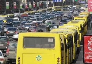 Новости Киева - маршрутки - забастовка - Жители пригородов Киева не смогли добраться в столицу из-за забастовки маршрутчиков