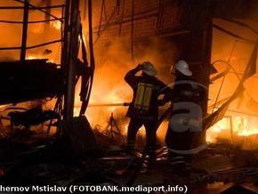 В Харькове горел крупнейший торговый центр Украины