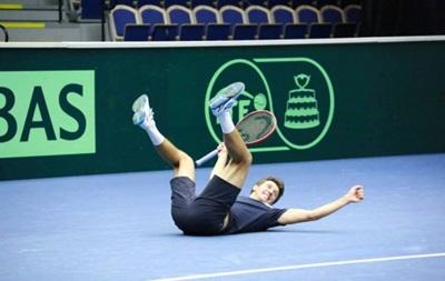Как украинские теннисисты на битву со шведами настраиваются