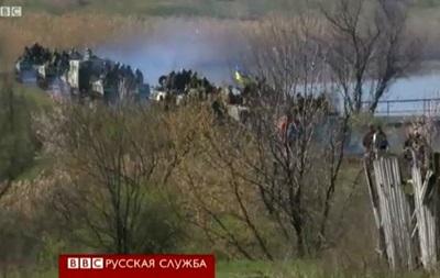 Стычка под Краматорском: военные едут дальше - BBC