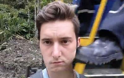 Машинист чуть не оторвал американцу голову, когда тот пытался сделать селфи на фоне поезда