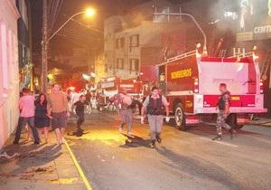 Пожар в бразильском ночном клубе: около 100 погибших