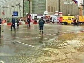 В центре Москвы возле Большого театра случился потоп