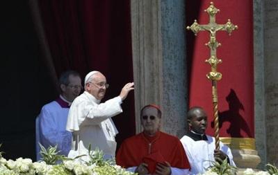 Папа Франциск в пасхальном обращении молился за Украину