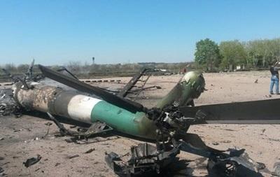 У Минобороны есть две версии обстрела вертолета в Краматорске